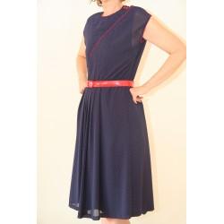 Klassisk marineblå 80'er kjole-L