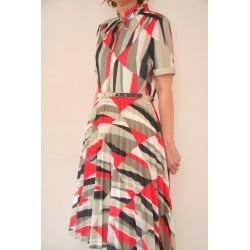 70'er kjole med trekanter-M/L