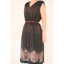80'er kjole med art nouveau print