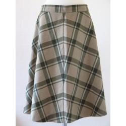 Ternet 70'er nederdel beige/grøn-M/L