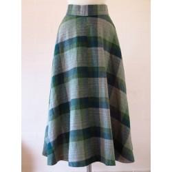 Ternet 70'er nederdel i diverse farver grøn-XS