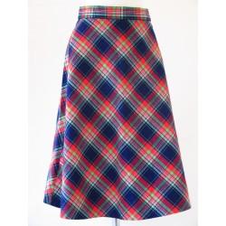 Ternet 70'er nederdel i klare farver-XS