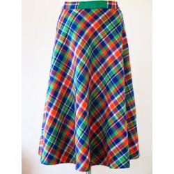 Ternet 70'er nederdel i pangfarver-M