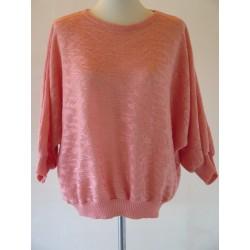 Lyserød 80'er trøje-M