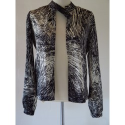 Cool sort/hvid 80'er jakke-S