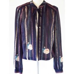 Blå, tynd 70'er jakke-M