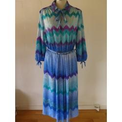 Vintage 80'er kjole à la Missoni-L/XL
