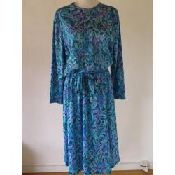 80'er kjole i diverse farver blå-M/L
