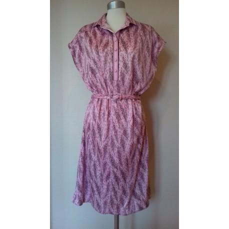 Lyserød 80'er kjole-L