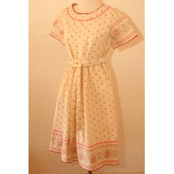 Folkloristisk vintage kjole-M
