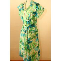 Grøn/turkis 90'er kjole-L