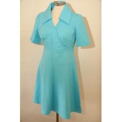 Turkis 70'er kjole-S