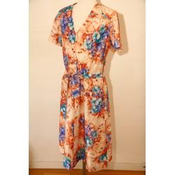 Blomstret 70'er kjole-L